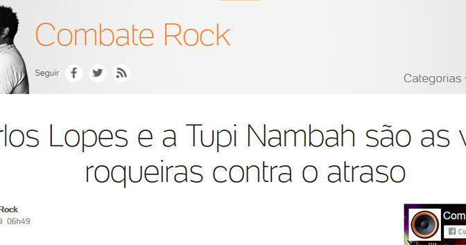 A revista TUPINAMBAH no COMBATE ROCK