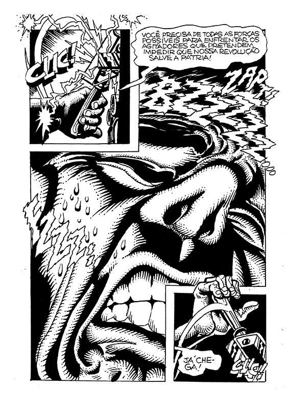 O DITADOR FRANKENSTEIN de Julio Shimamoto e COM A PALAVRA de Márcio Jr. (Editora MMARTE)